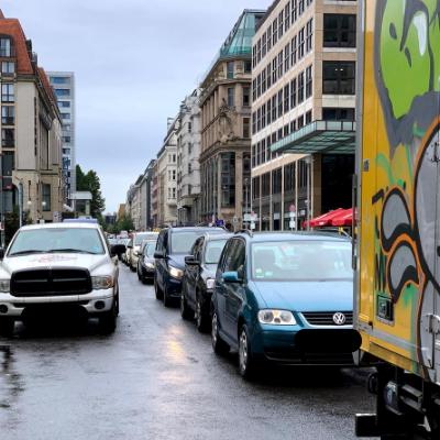 Überfüllte Charlottenstraße